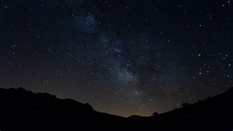 Time Lapse Milky Way Galaxy Moving Across Sky