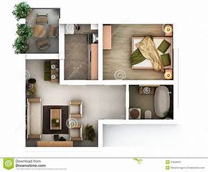 3d floor plan stock illustration Illustration of home