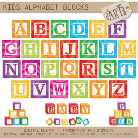 kids abc blocks graphics clip art luvly