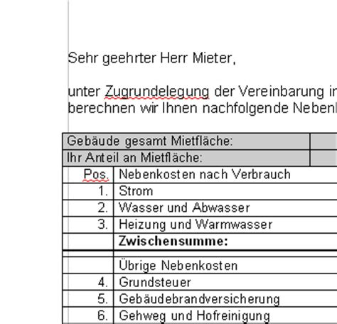 Nebenkostenabrechnung Warmwasser Berechnung by 17 Nebenkostenabrechnung Vermieter Vorlage Something To