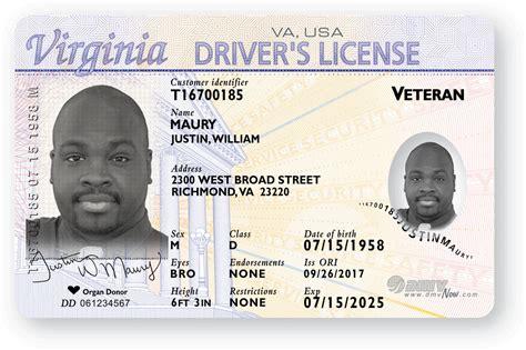 veteran license indicator virginia department