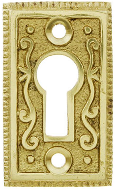 solid brass ornate keyhole cover house  antique hardware