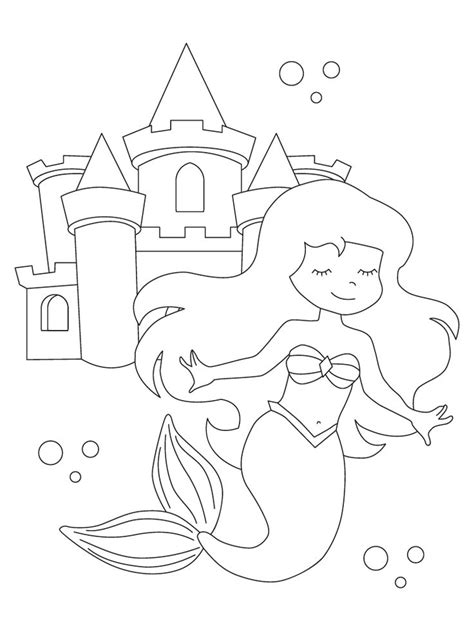 printable fall coloring pages mermaid coloring book