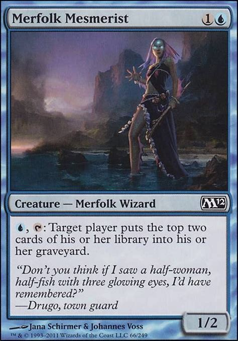 mill deck mtg mono blue merfolk mesmerist m12 mtg card