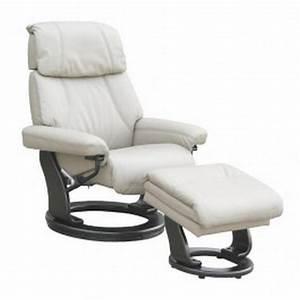 Fauteuil Cuir Blanc : fauteuil cuir caracas relaxation espace du sommeil ~ Melissatoandfro.com Idées de Décoration