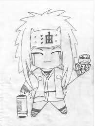 jiraiya drawing sketches drawings chibi