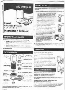 Healthy Living 123  Instapure F2 Faucet Water Filter