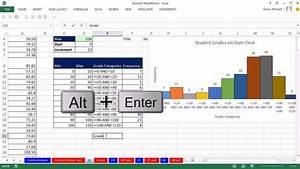 Histogram Chart Excel 2013 Highline Excel 2013 Class Video 46 Statistics Histogram