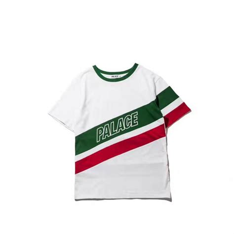 palace r stripe t shirt white