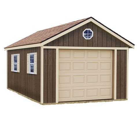 Best Barns Sierra 12 Ft X 16 Ft Wood Garage Kit Without