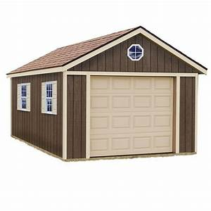 Best barns sierra 12 ft x 16 ft wood garage kit without for G floor home depot
