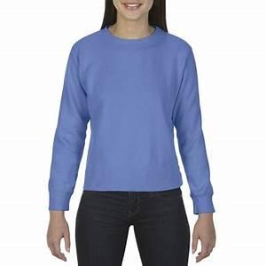 CC1566 fort Colors Adult Crewneck Sweatshirt Flo Blue