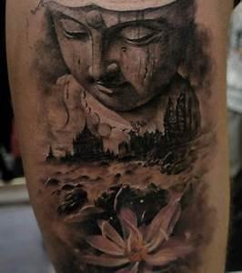 Fleur Lotus Tatouage : photo tatouage bouddha et fleur de lotus ~ Mglfilm.com Idées de Décoration