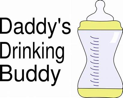 Daddy Clip Clipart Buddy Drinking Daddys Clker