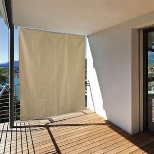 balkon sichtschutz sonneschutz vorhang seitenmarkise With feuerstelle garten mit sonnensegel befestigung balkon ohne bohren