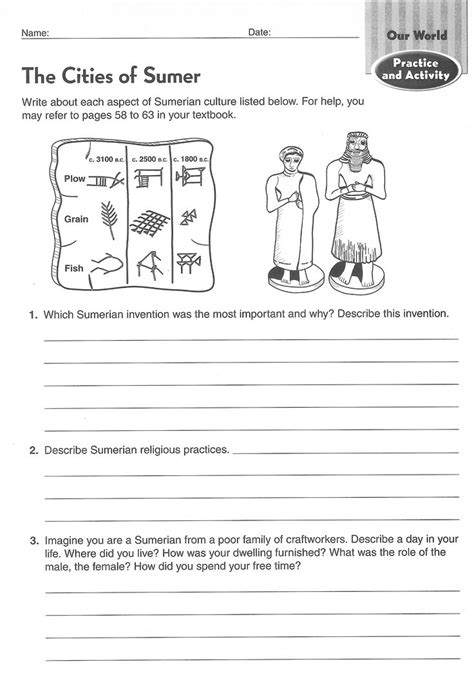 ancient civilizations worksheets 6th grade search