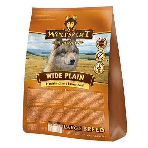 horse meat plain wide breed potatoes wolfsblut sweet dog food kg dry dogs