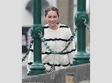 Game Of Thrones' Emilia Clarke cuts a colourful figure on