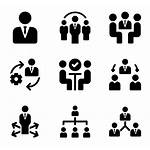 Management Icons Team Human Elements Organization Worker
