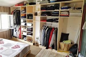 Idée Dressing Fait Maison : fabrication d 39 un dressing sur mesure en bois d 39 pic a ~ Melissatoandfro.com Idées de Décoration