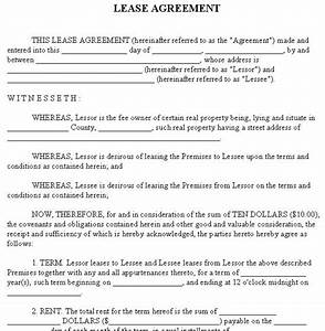 house rental agreement form free printable documents With residential lease agreement document