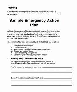 sample emergency action plan 11 free documents in word pdf With osha safety program template
