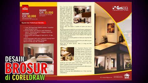desain brosur promo hotel tutorial coreldraw youtube