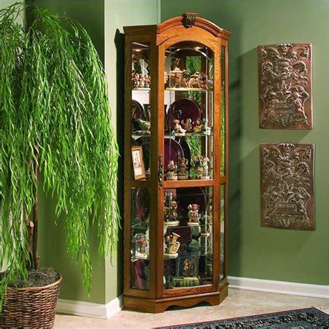 oak corner curio cabinet estate oak corner curio cabinet 20639