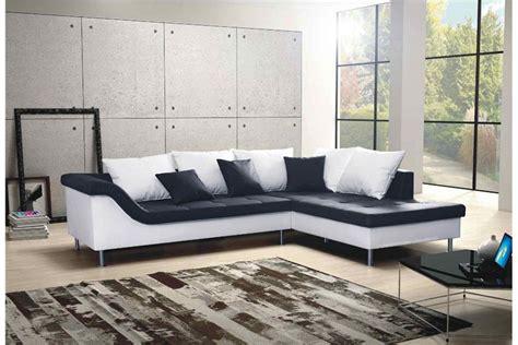 canapé d angle cuir noir et blanc canapé d 39 angle design elvis convertible noir et blanc