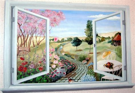 window mural trompe l oeil carole herbert medieviste et meubles peints trompe l oeil