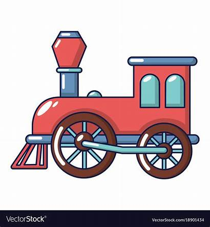 Train Cartoon Vector Icon Clipart Vectorstock Royalty