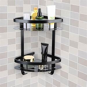 Lyumo, Bathroom, Storage, Basket, Hanging, Bathroom, Shelves, Double, Layer, Triangular, Storage, Basket