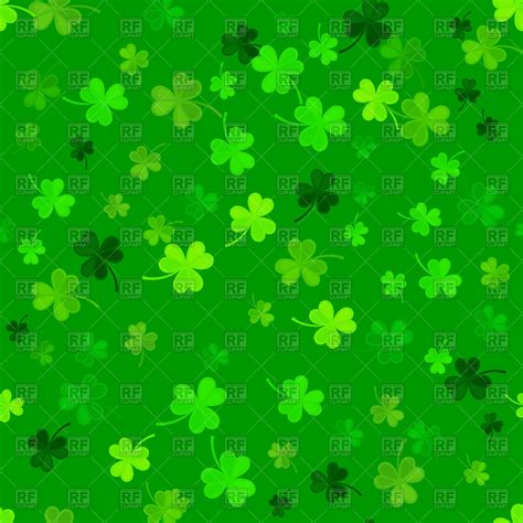 Clover Background St S Day Clover Seamless Pattern On A Green