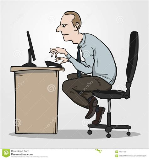 position au bureau and bad posture vector cartoondealer com