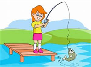 Girl Fishing Clipart