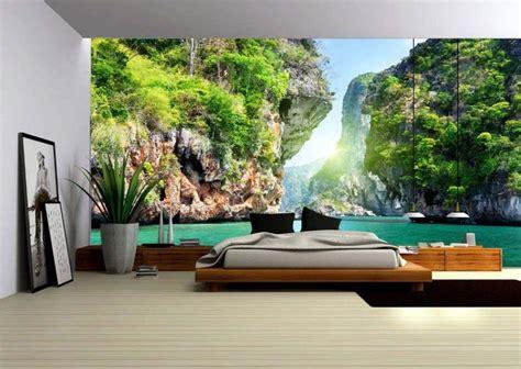 chambre adulte pas cher design papier peint 3d créant un effet abstrait et trompe l œil
