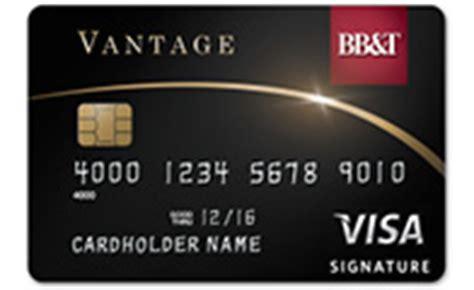 Vantage Visa Signature Credit Card  Bb&t Wealth