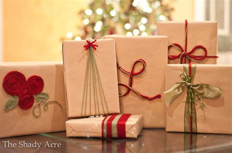 Inexpensive Gift Wrap Ideas Using Yarn  The Shady Acre