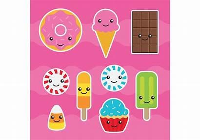 Kawaii Candy Vectors Vector Vecteezy Clipart Graphics