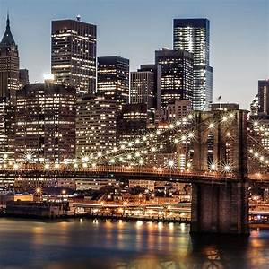 New York Leinwand : new york skyline leinwand bild auf keilrahmen brooklyn bridge wandbild poster ebay ~ Markanthonyermac.com Haus und Dekorationen