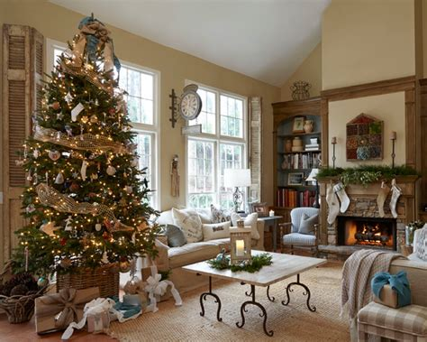 best holiday decorating ideas houzz tuscan farmhouse farmhouse family room atlanta by gabrielson design