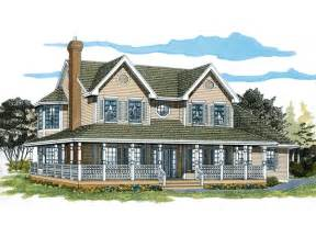 farmhouse plans with wrap around porch painted creek country farmhouse plan 062d 0309 house plans and more