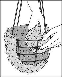 DIY Hanging Basket Liner - DIY | Organic Gardening