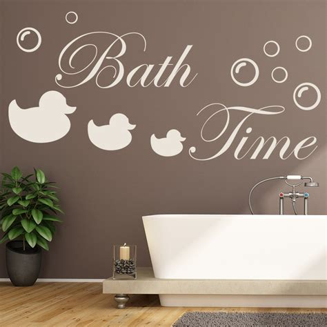 Bathroom Quotes Uk by Bath Time Bathroom Quote Wall Sticker