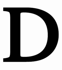 letter d large With large wrought iron letters