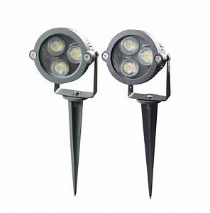 Outdoor spot lighting fixtures led black