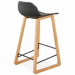 Chaise Mi Hauteur : tabouret de bar chaise de bar mi hauteur scandinave scarlett mini noir ~ Teatrodelosmanantiales.com Idées de Décoration
