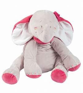 Peluche Geante Elephant : peluche anna l 39 l phant noukies large chez doudou ~ Teatrodelosmanantiales.com Idées de Décoration