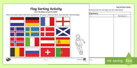 uefa womens euro  flag symmetry activity teacher