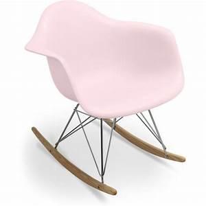 Chaise A Bascule Chambre Bebe : privatefloor chaise bascule rar charles eames style polypropyl ne matt rose p le chambre ~ Nature-et-papiers.com Idées de Décoration